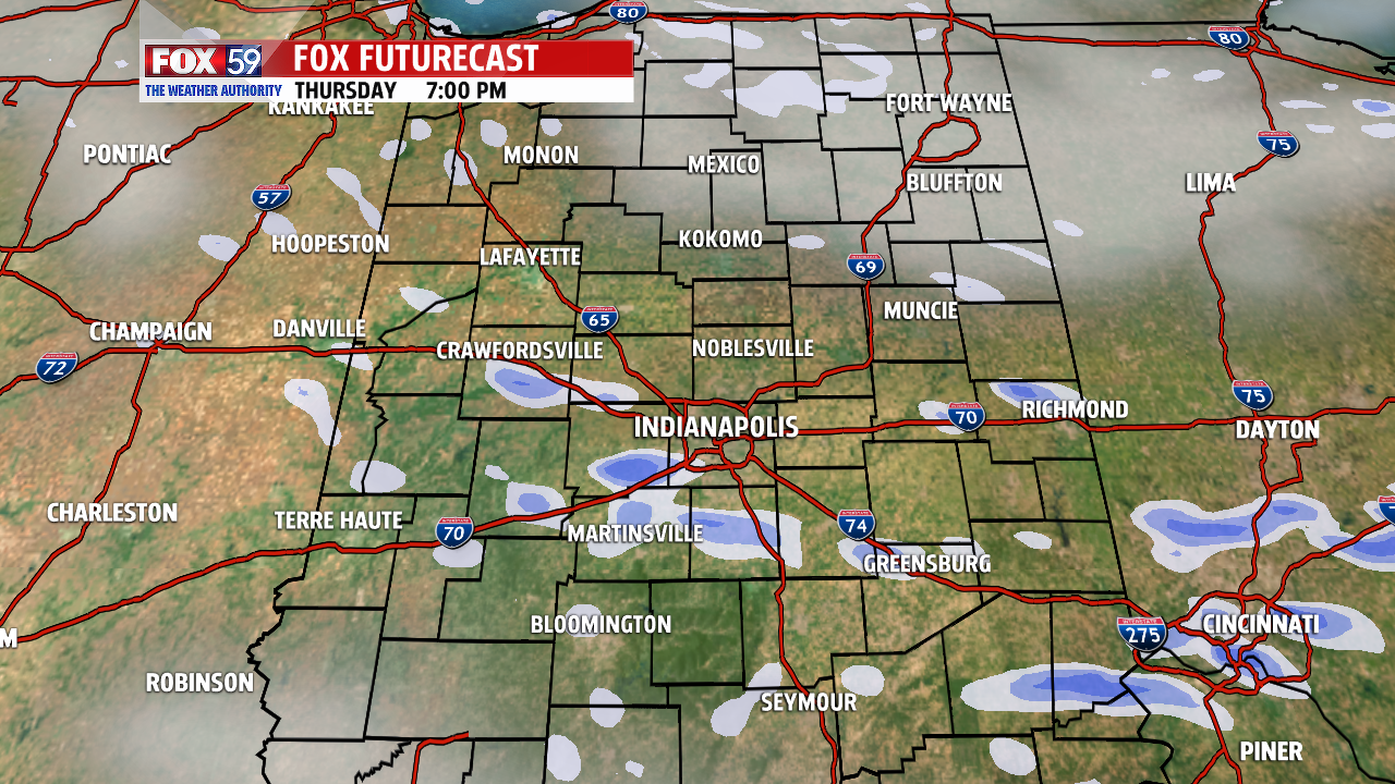 Snow showers will scatter and diminish later. Forecast 7 PM