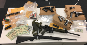 Photo of seized items courtesy of IMPD.