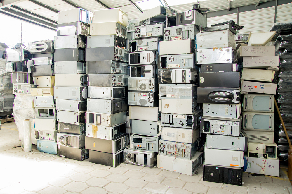 reduce, reuse, recycle of discarded computers