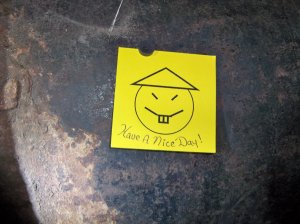 Close up of the note left on pipe that Richard Matt and David Sweat used to escape Clinton Correctional in New York.