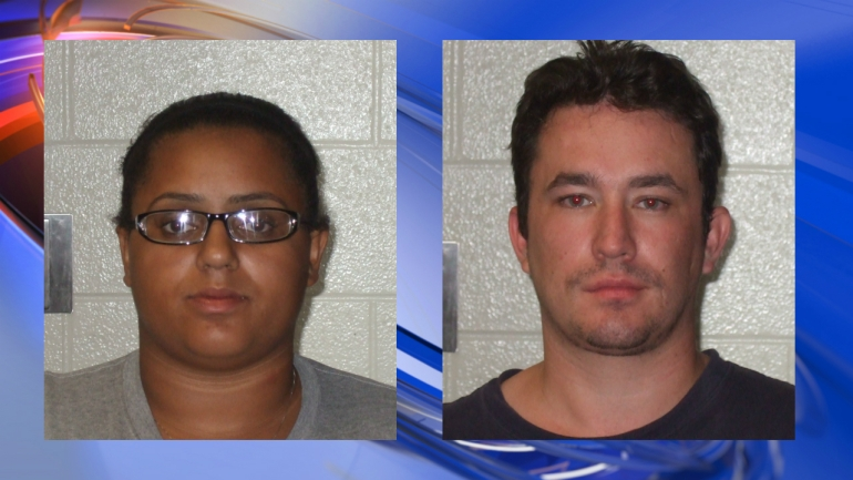Mug shot: Brittany Rainey (left), William Pierce (right)