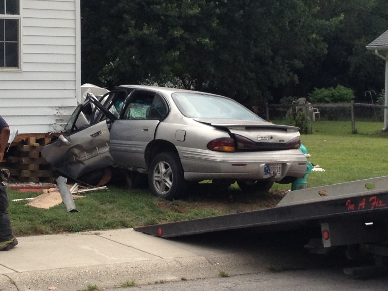 Car crashes into Penick-Messiah A. M. E. Zion Church
