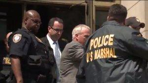 Jared Fogle leaves court on Aug. 19, 2015
