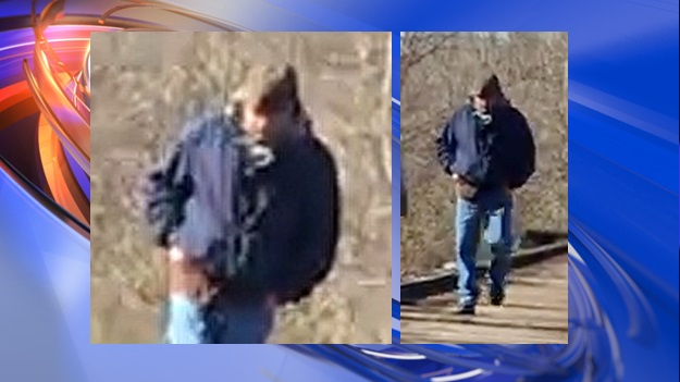 Photos of the man police want to speak with.