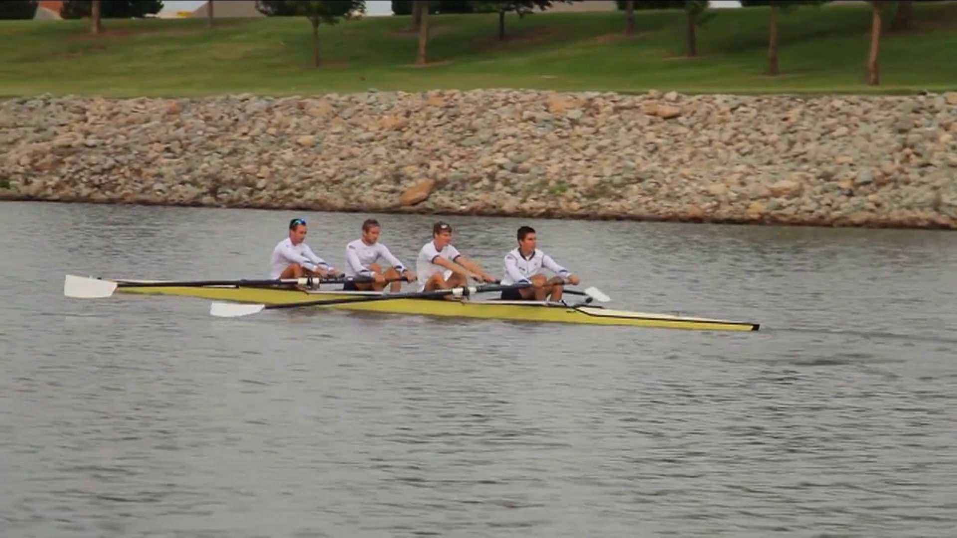 Olympic rowing on Oklahoma River - OK Riversport