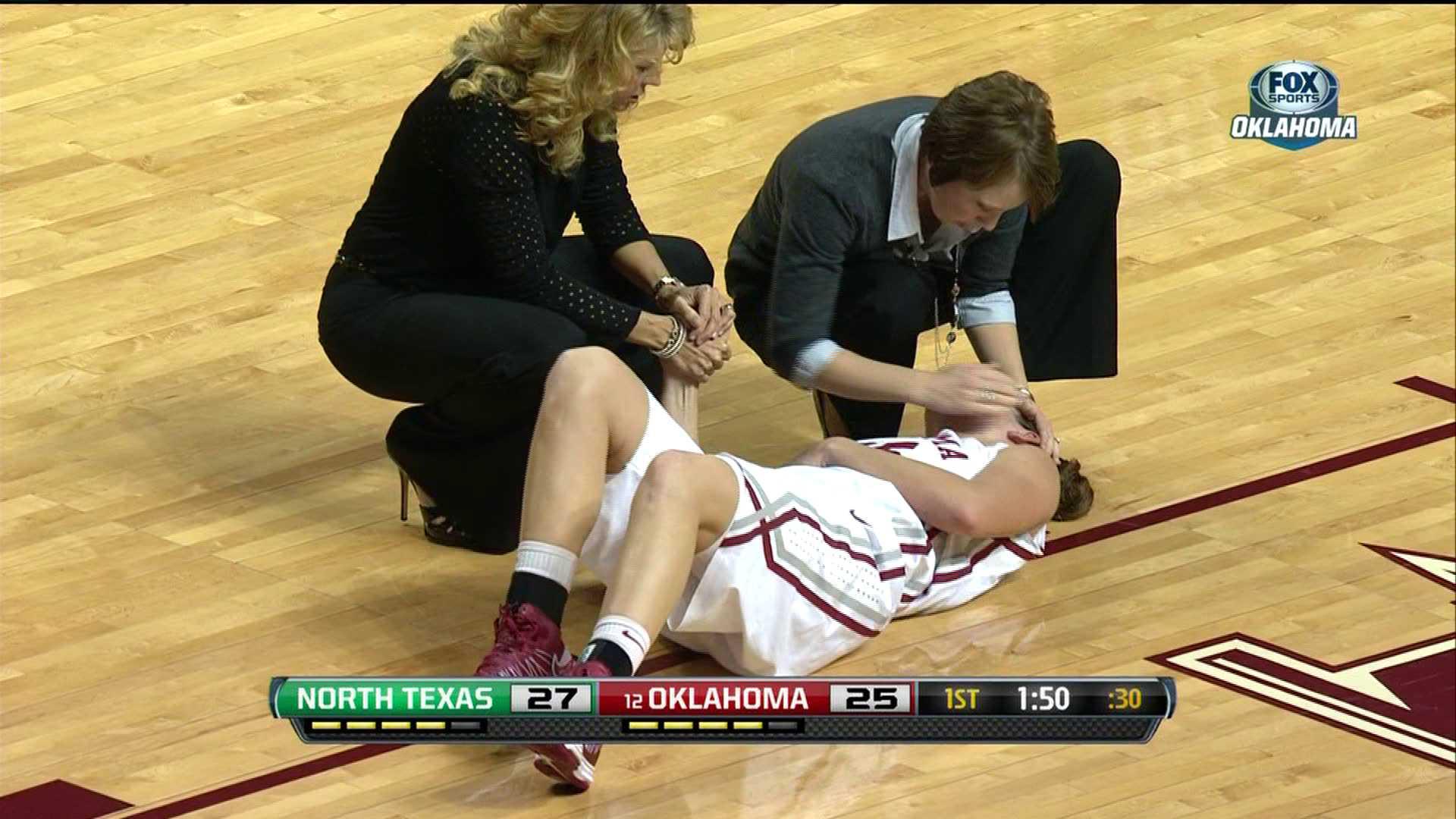 Hand knee injury down