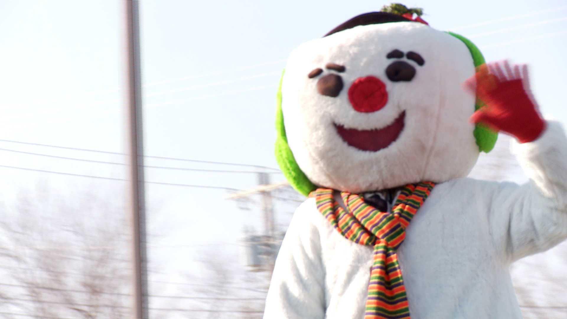 Norman Holiday Parade snowman