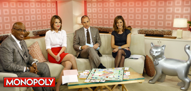 TODAY Show reveals new Monopoly game piece. Courtesy Hasbro Monopoly and the TODAY Show