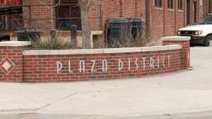 Plaza District sign