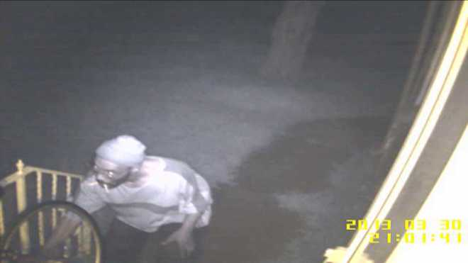 Police search for bike burglar suspect caught on camera.