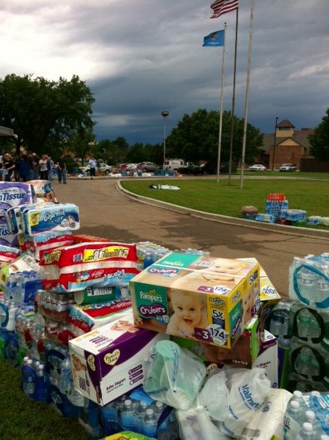 Donations to tornado victims