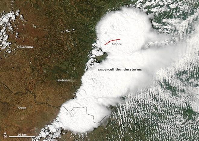 NASA sattelite image of Moore tornado