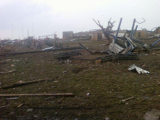 Destruction from Monday's tornado