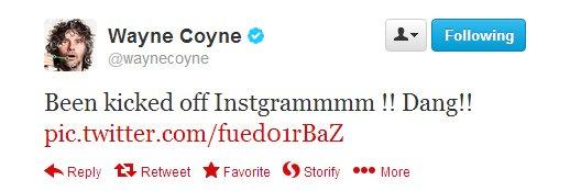 Wayne Coyne Kicked off Instagram