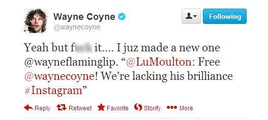 Wayne Coyne tweet new instagram