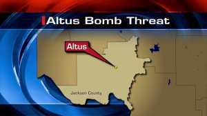 Altus bomb threat map