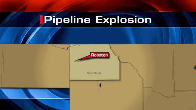 Pipeline explosion map