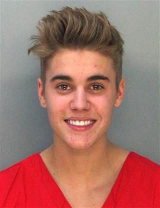 Justin Bieber mug Miami police