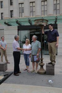 Senate Lamp being returned