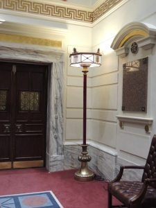 Senate Lamp in Chamber
