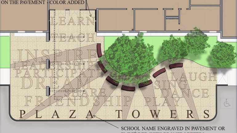 Plaza Towers memorial students graphic
