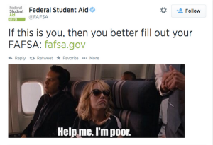 Screenshot of FAFSA's tweet.  Courtesy: NBC News