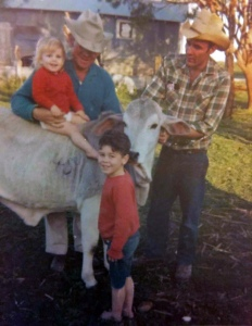 Marianne and family on the farm