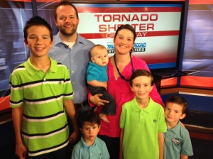 Ken, Sara, Clayton, Evan, Denton, Benjamin and Gavin. Storm Shelter winners
