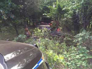 Vincent Strobl ditched his truck in the woods near Lake Stanley Draper