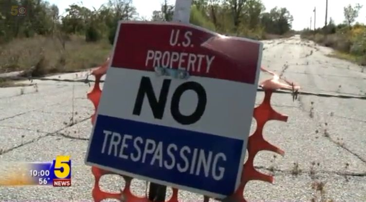 No trespassing signs in Picher. Source: KFSM