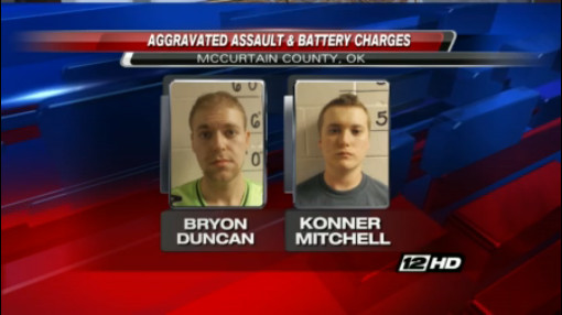 Bryon Duncan, 23, and Konner Mitchell, 21