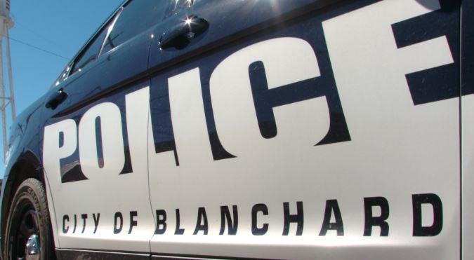 Blanchard police car