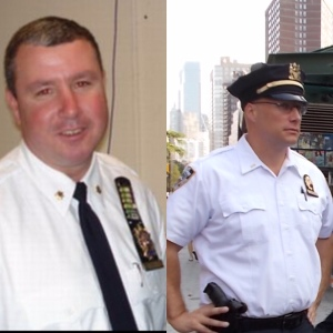 Inspector Scott Shanley, commanding officer of the NYPD Critical Response command and 35-year veteran of the NYPD and Lieutenant Andrew Childs, of the NYPD Critical Response Command and 14-year veteran of the NYPD.