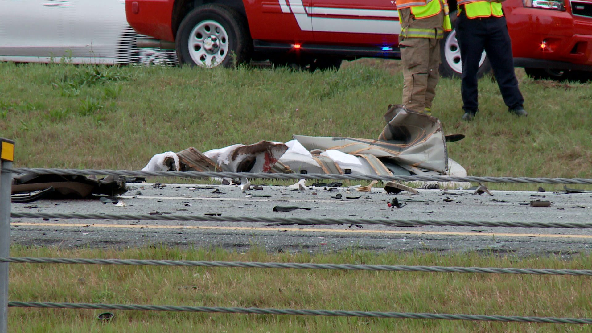Double fatality accident on I-35 near Covell
