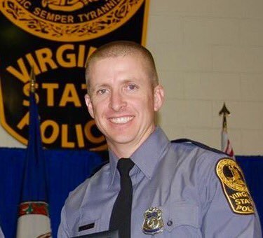 The trooper killed has been identified as Chad Dermyer, 37. Credit:Virginia State Police