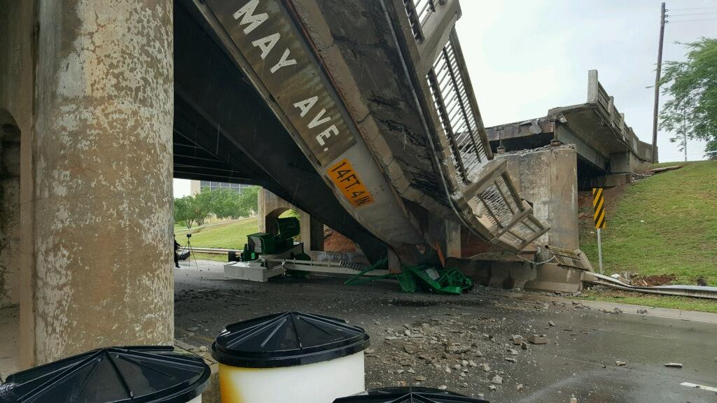 May Ave. bridge collapse