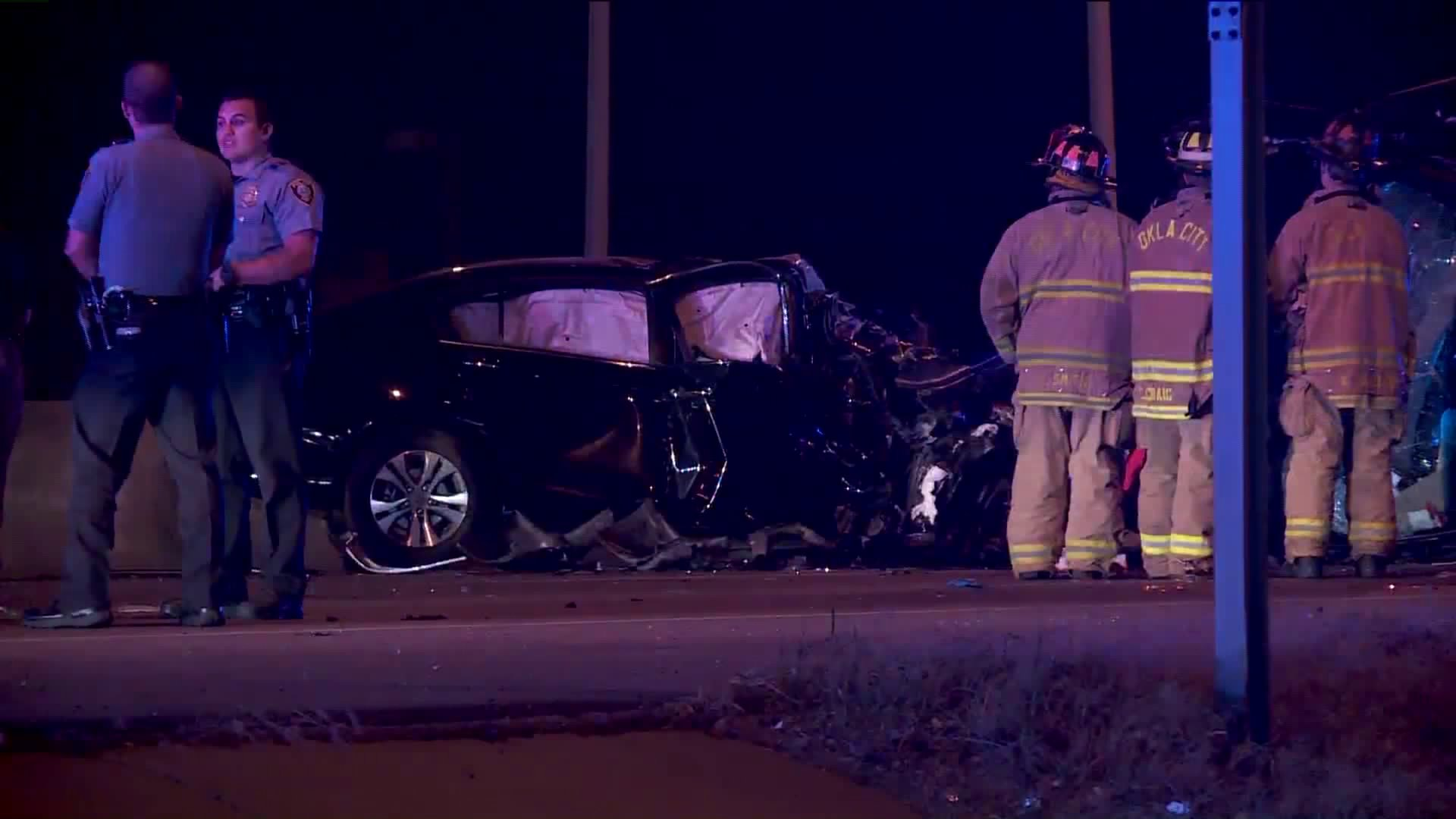 Victim who was in the black car was pronounced dead at the scene.