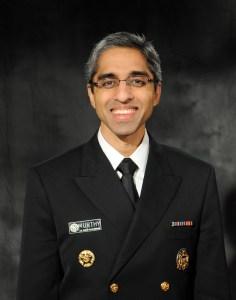 Surgeon General Vice Admiral  Vivek H. Murthy, M.D., M.B.A., Source: SurgeonGeneral.Gov
