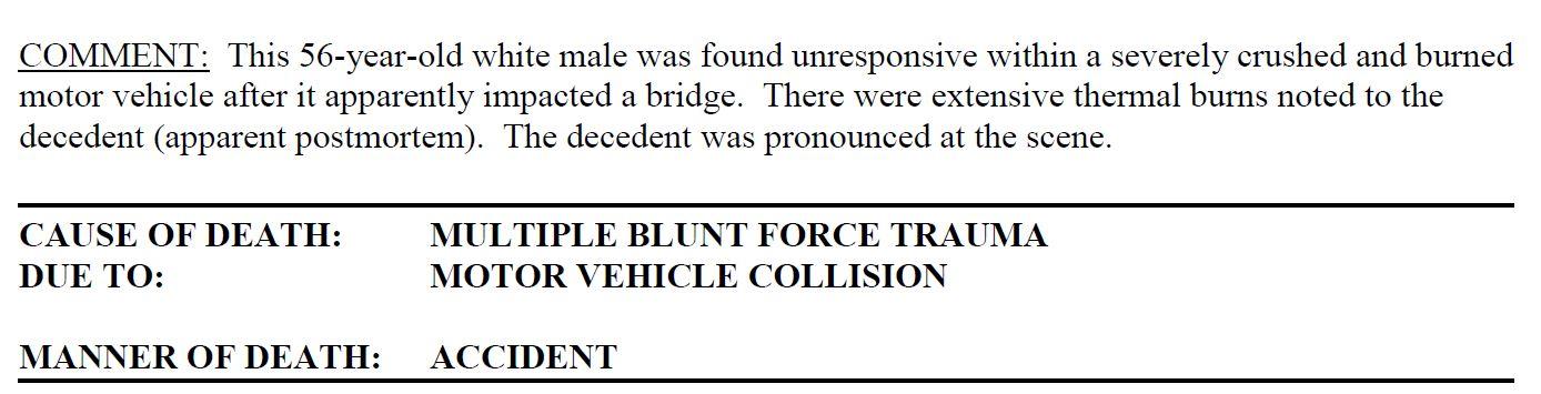 Aubrey McClendon autopsy excerpt