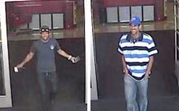 Surveillance video from Target captured images of these two men matching the description of the alleged suspects