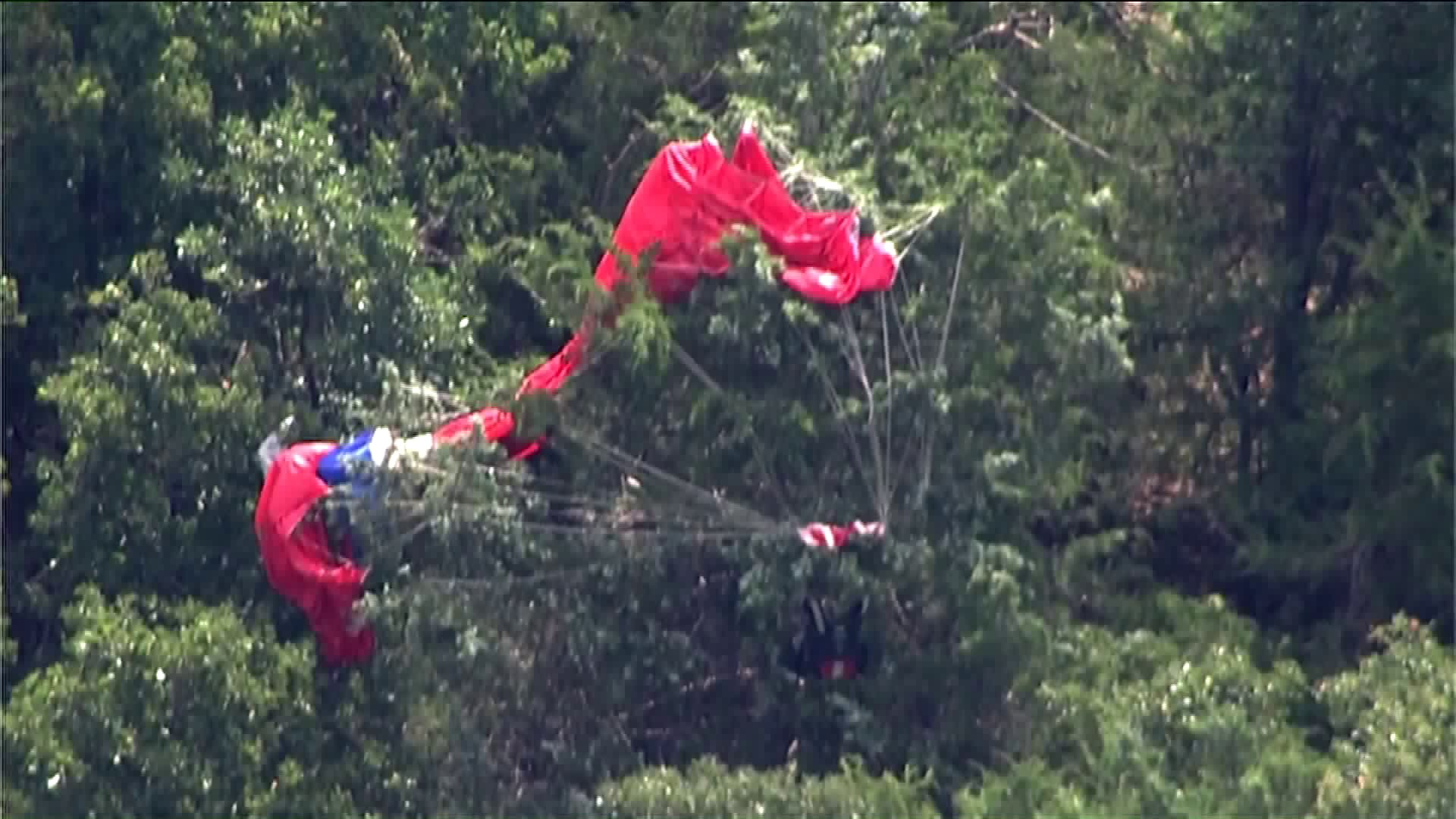Missing skydiver's parachute found.