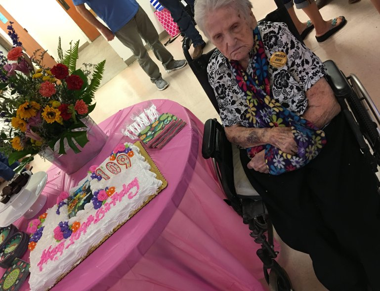 Mary Erbin celebrates her 109th birthday!