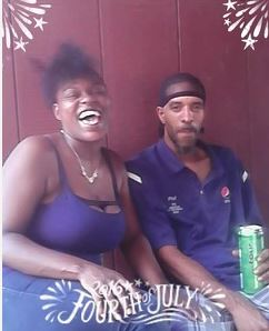 Donna Burrell and her fiance, Phillip Harding.