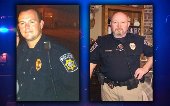 Officer Shawn Stewart and Officer Jim Hampton.
