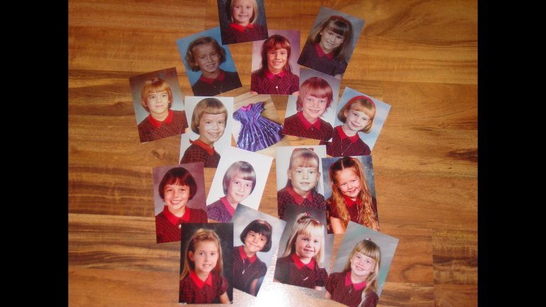51 years, 17 girls and one plaid dress passed down for picture day