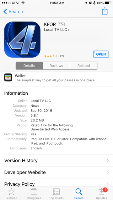 Check the details of the app to make sure it is authentic.