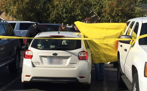 Body found inside car at OU. Photo credit: Amanda Franklyn