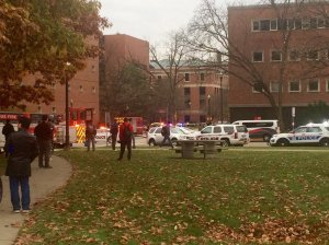 Abdul Razak Ali Artan, suspect in the Ohio State University attack rammed his car into a group of pedestrians before using a butcher knife to cut several people, university officials said. Credit:Twitter/The Lantern