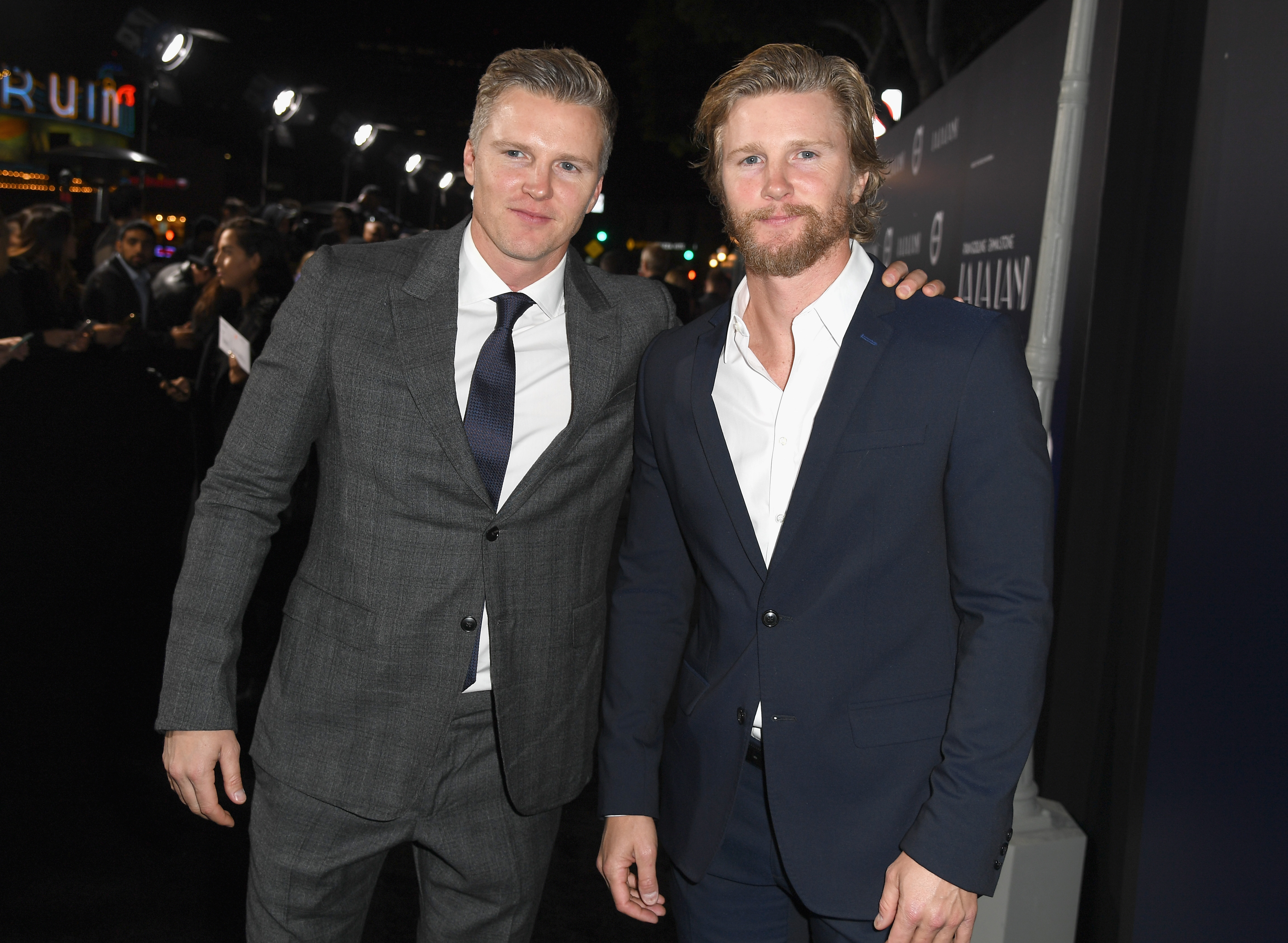 Producers Trent Luckinbill and Thad Luckinbill attend the premiere of Lionsgate's 'La La Land' at Mann Village Theatre on December 6, 2016 in Westwood, California. (Photo by Kevin Winter/Getty Images)