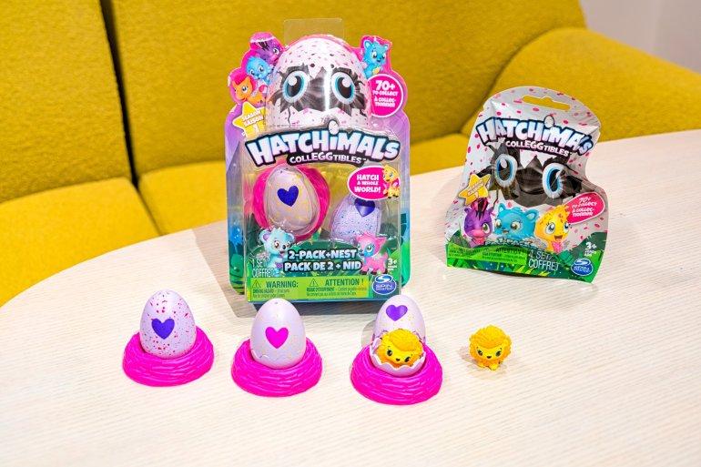 Hatchimals Colleggtibles include 70 mini plastic creatures that live inside a mini egg.